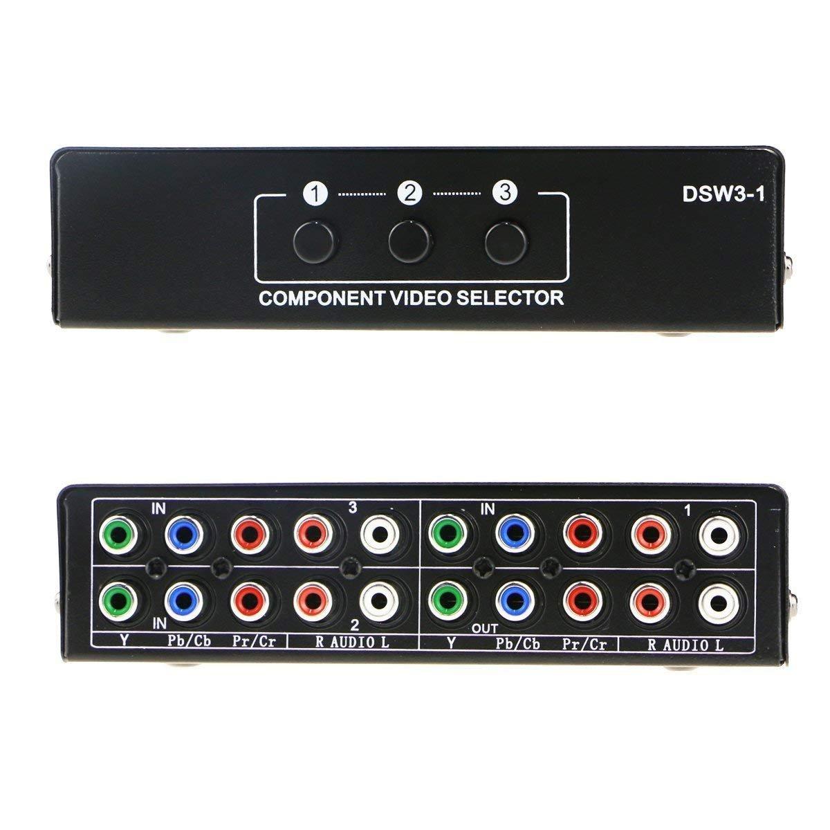 Amazon.com: 3 Port Component AV Video Switch Box Hub Splitter RGB ...