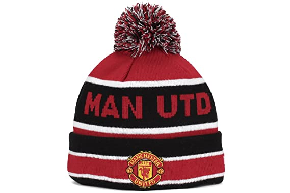 Amazon.com  New Era Manchester United Cuff Bobble Sports Knit Beanie ... a1c98d79905