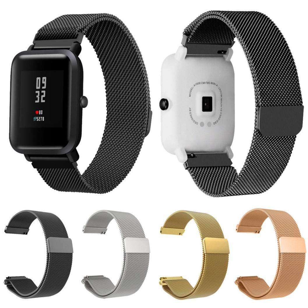 Modaworld _Correa de reloj Pulsera xiaomi huami amazfit bip Correas Pulsera de Acero Inoxidable para Xiaomi Amazfit Bip Youth Watch (Oro Rosa): Amazon.es: ...