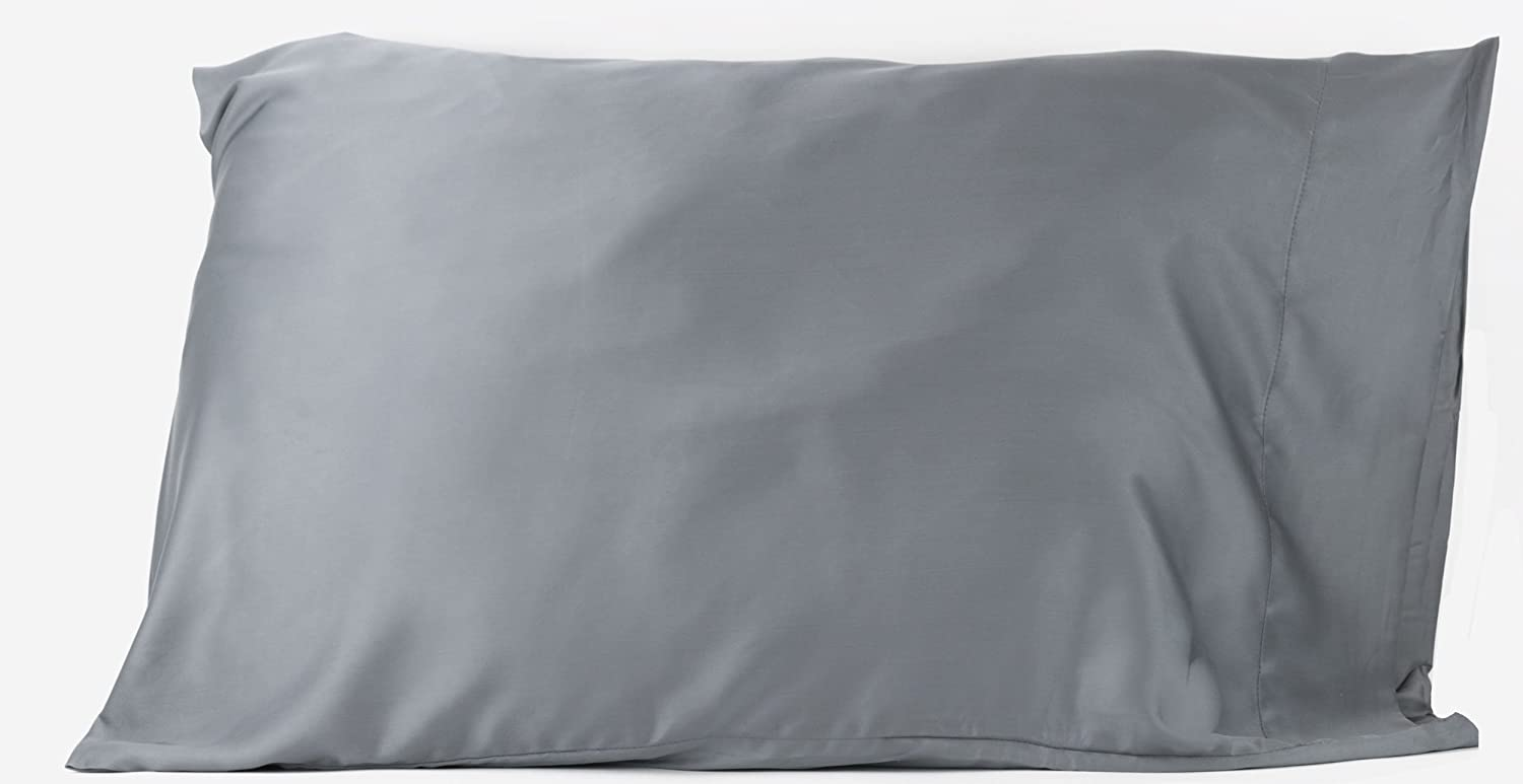 Hotel Sheets Direct 100% Bamboo Queen Pillowcases 20 x 30 inch - Better Than Silk, Cool, Soft, Great for Hair, Hypoallergenic - Dark Gray