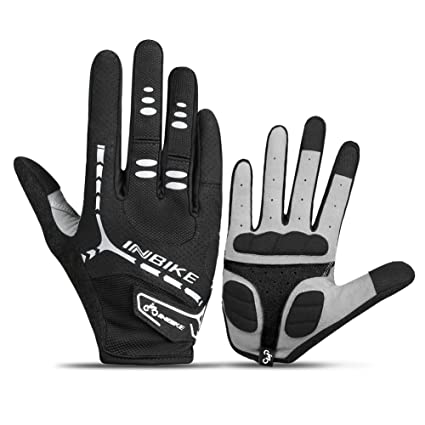 Amazon Com Inbike Bicycle Gloves Winter Touch Screen Full Finger