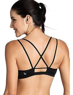 e77030e0bd CRZ YOGA Women s Padded Wire-Free Cool-look Criss Cross Back Yoga Sports Bra