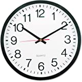 "Universal Round Wall Clock, 12 5/8"", Black (10431)"