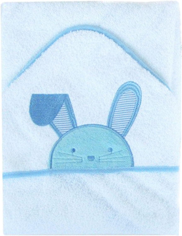 Baby Boys Girls Bath Toweling Hooded Towel//Robe Prince//Princess Teddy Bear And Rocking Horse ht14 Blue Rabbit Towel Rabbit