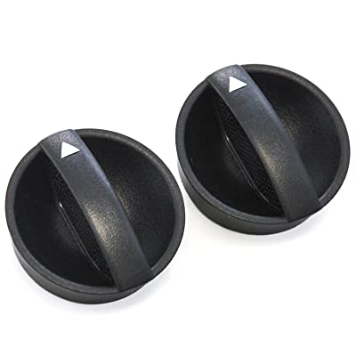 2 Control Knobs Fan Heater AC 2012-15 Compatible with Toyota Tacoma Temperature Clear Black: Automotive