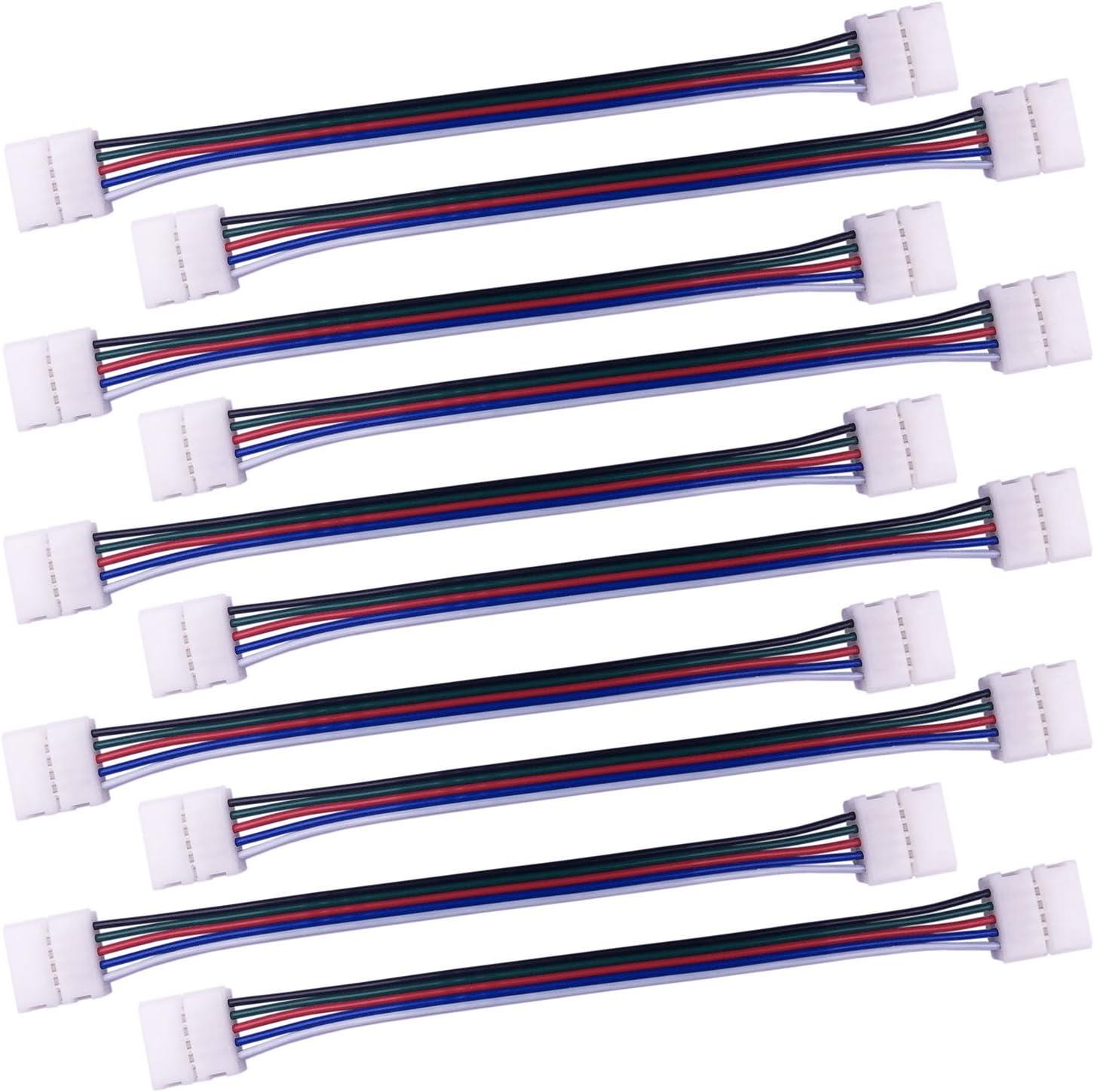 Accessoire ruban led RVB RGB RVBB RGBW Connecteur 4 Ou 5 pins Male//Male par lots