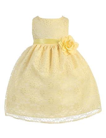 BIMARO Baby Mädchen Babykleid Nelly gelb Kleid Taufkleid ...