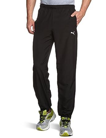 4bb199264c0e Puma Men s Jogging Bottoms Woven Closed black Size S  Amazon.co.uk ...