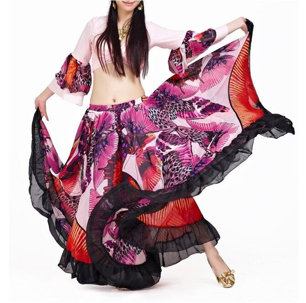 ZYZF Belly Dance 25 Yard Tribal Gypsy Skirt Turkish Belly Dance Halloween 20160728187