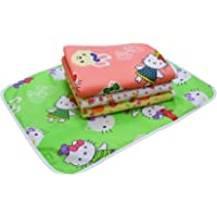 Fareto Water Proof Nappy Changing Mat with Foam Cushioned for Newborn Baby (Multicolour, 0-3 Months) -4 Sheets