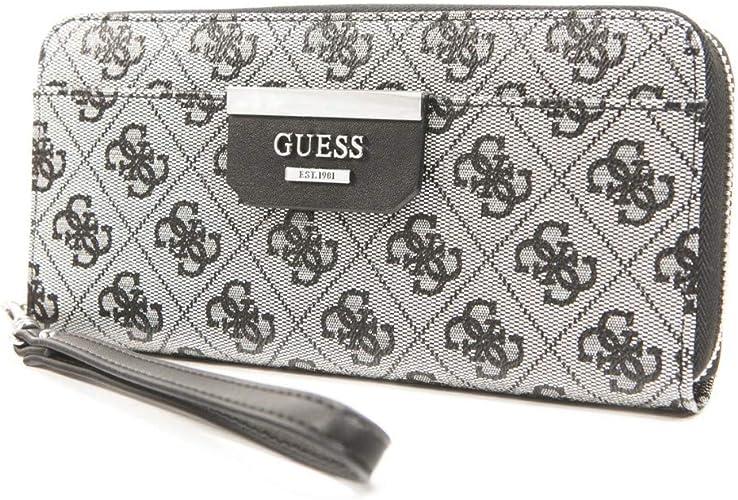 accademico sottosopra Strofinare  Guess Bobbi, Women's Wallet, Black (Black Logo/Blo), 21x10x2.5 cm (W x H  L): Amazon.co.uk: Shoes & Bags