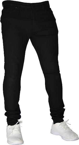 TALLA 34W / 30L. Pantalones vaqueros elásticos para hombre, ajustados, ajustados, ajustados, elásticos, 98% algodón y 2% elásticos, cintura 28-40.
