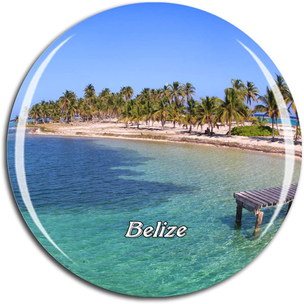Weekino Belize City Belize Fridge Magnet 3D Crystal Glass Tourist City Travel Souvenir Collection Gift Strong Refrigerator Sticker