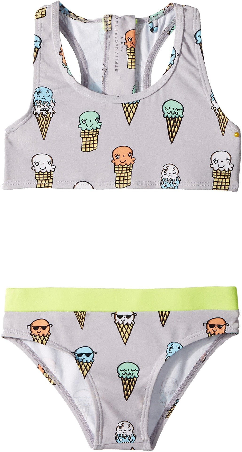 Stella McCartney Kids Baby Girl's Koko Ice Cream Print Two-Piece Swimsuit (Toddler/Little Kids/Big Kids) Lilac 2T (Toddler)