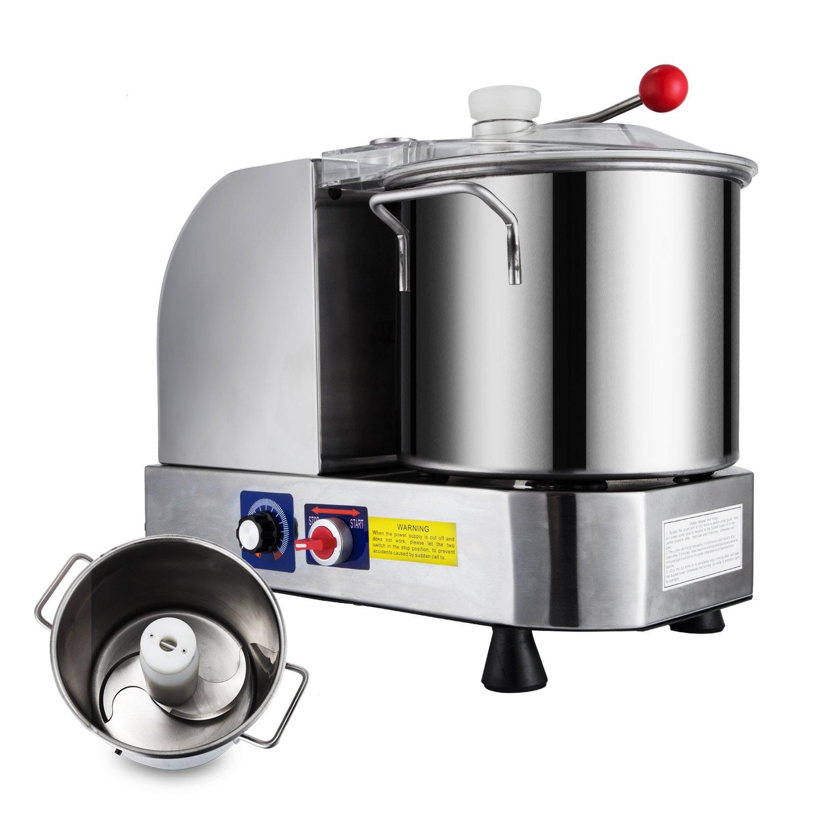 Happybuy Food Cutter Mixer 9L Food Grinder Processor 850/2000 RPM Food Grinder Commercial for Meat Vegetables and Fruit (9L)