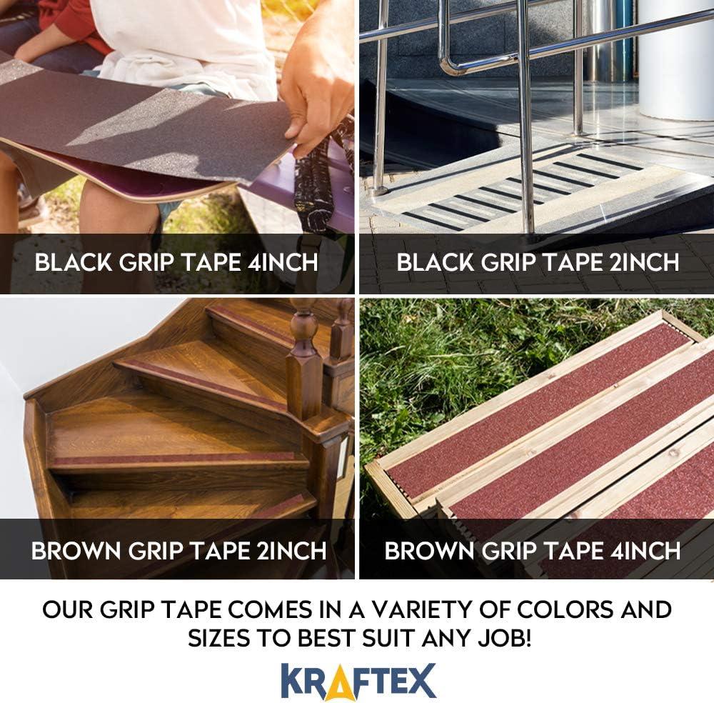 Ruban antiglisse antifriction pour glissi/ères de grand escalier pour marches et escalier en bois Escaliers d/'int/érieur et d/'escalier ext/érieures. 2/'/' Marron Ruban adh/ésive antid/érapant