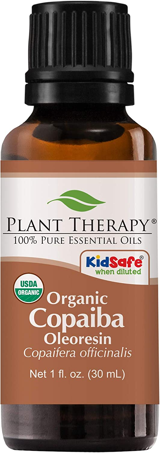 Plant Therapy Essential Oils Copaiba Oleoresin Organic 100% Pure, Undiluted, Natural Aromatherapy, Therapeutic Grade 30 mL (1 oz)