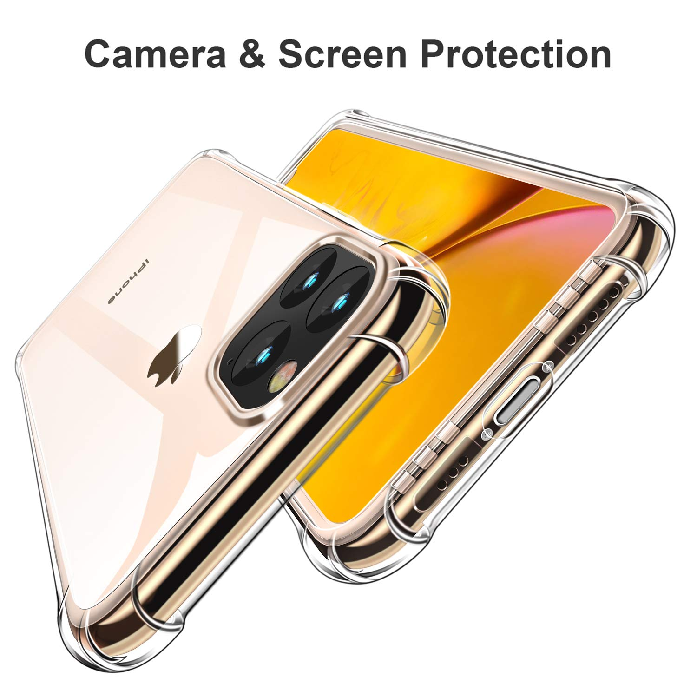Clear Hochwertig Transparent Weiche Durchsichtig D/ünn Handyh/ülle mit TPU Sto/ßfest Fallschutz Bumper Case Cover f/ür Apple iPhone 11 Pro Max 6.5 CANSHN iPhone 11 Pro Max H/ülle