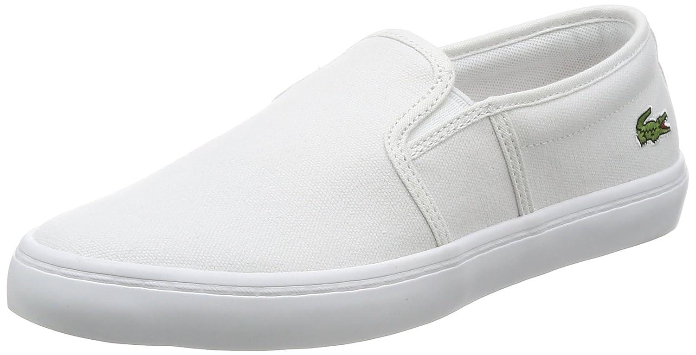 747de885b70e8f Womens Lacoste Gazon BL 2 Canvas White Summer Slip On Casual Trainers   Amazon.co.uk  Shoes   Bags