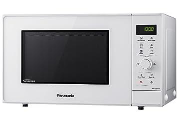 Panasonic NN-GD34HWSUG Horno microondas Compacto Inverter, 1000 W, 23 litros, Gris