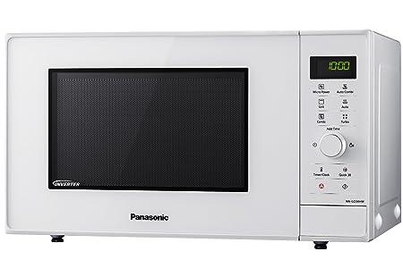 Panasonic NN-GD34HWSUG Horno microondas Compacto Inverter, 1000 W, 23 litros, Gris, Blanco: Amazon.es: Hogar