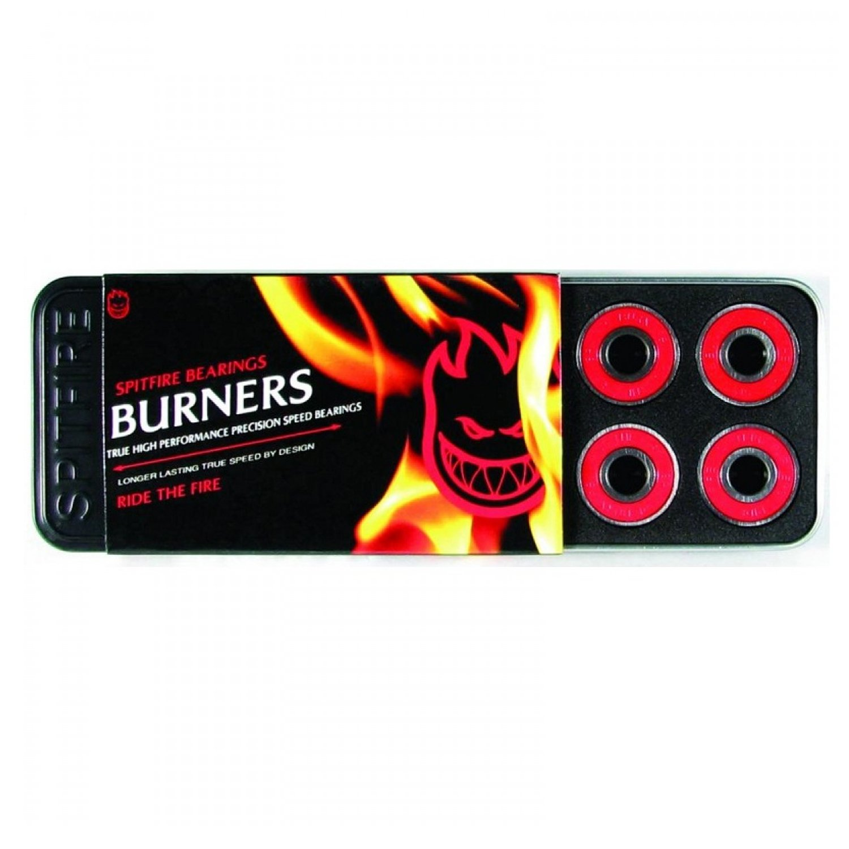 Spitfire Burner Skateboard Bearings One Size Red