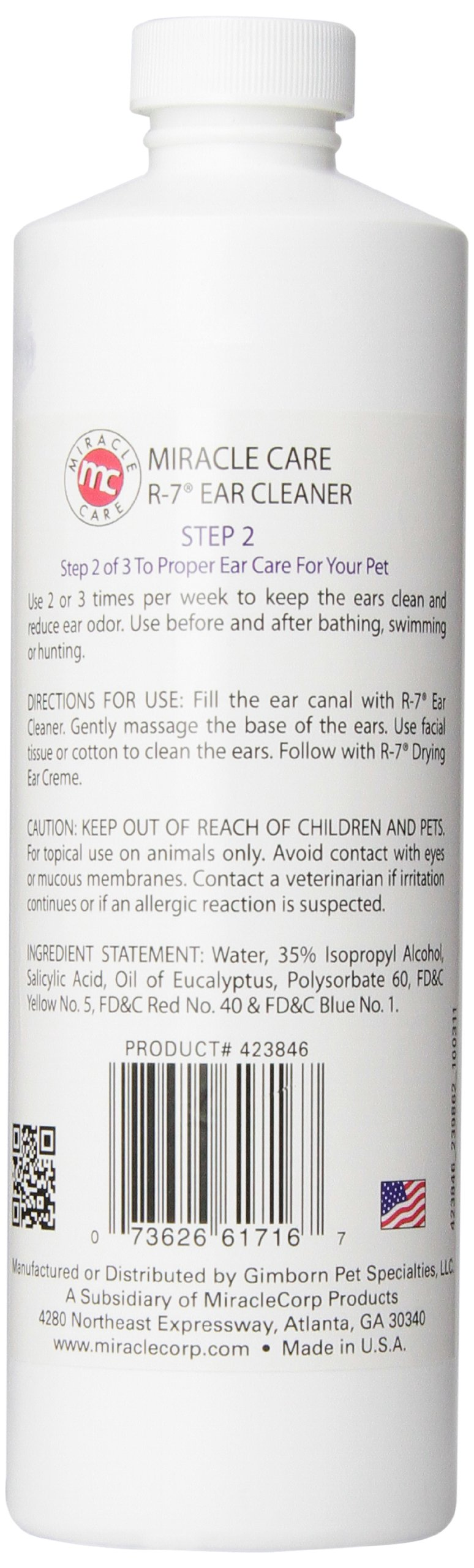 Miracle Care R-7 Ear Cleaner, 16-Ounce by Miracle Care (Image #3)