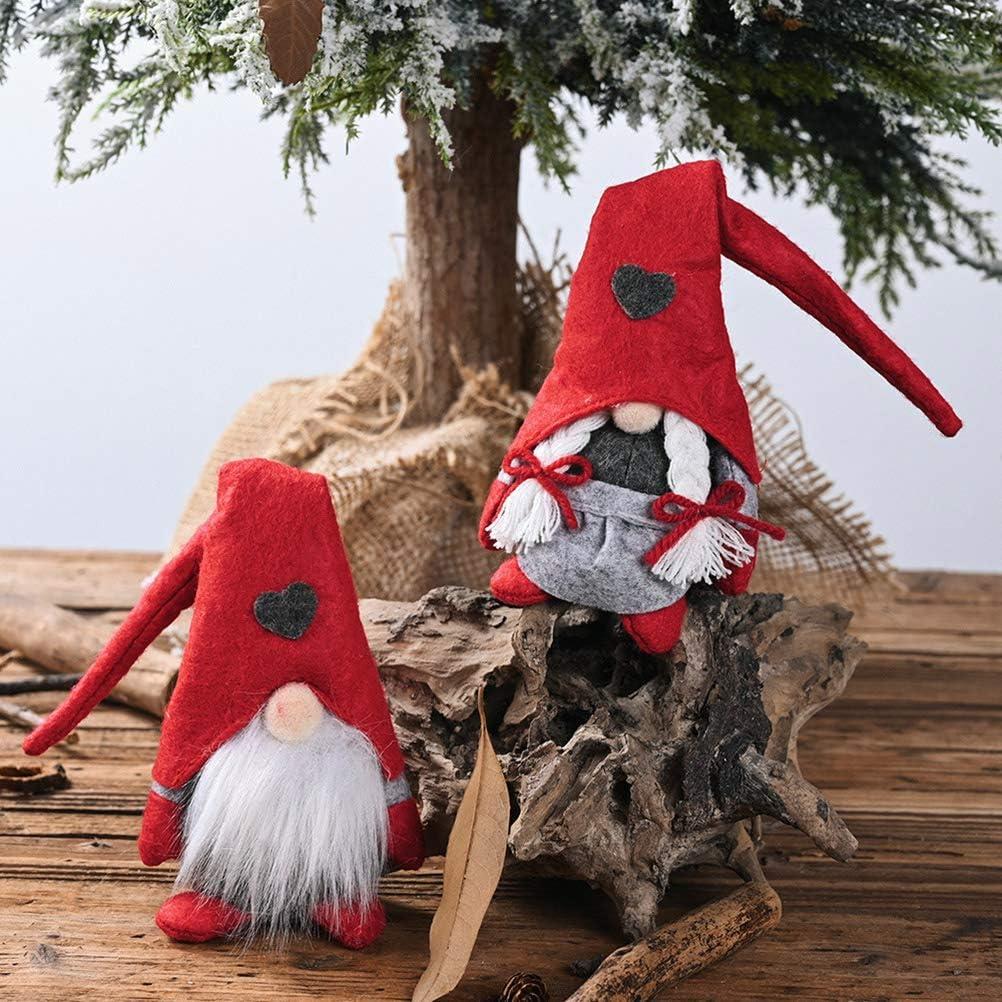 nain scandinave Cadeaux pour enfants Famille P/âques No/ël JSSEVN Lot de 2 lutins d/écoratifs de No/ël 28 cm de haut P/ère No/ël su/édois Santa Tomte Gnom emballage festif