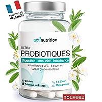 ULTRA Probiotiques 40 milliards d'UFC par Dose (2/j) | 8 souches naturelles, vivantes et essentielles | 60 gélules gastro-résistantes | avec L-Glutamine, Coenzyme Q10 | Fabriqué en France