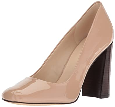 Nine West Women's Denton Synthetic Pump Tan Size 9.5