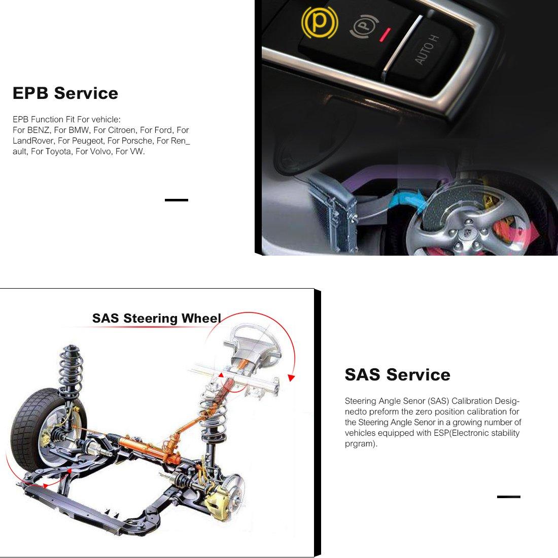 Amazon Autel MaxiCheck Pro OBD2 Car Diagnostic Tool EPB ABS SRS SAS Airbag Oil Service Reset BMS DPF Automotive