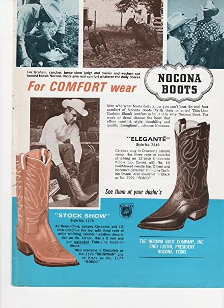 Amazoncom Nocona Boots Elegante Style Stock Show Vintage - Nocona car show