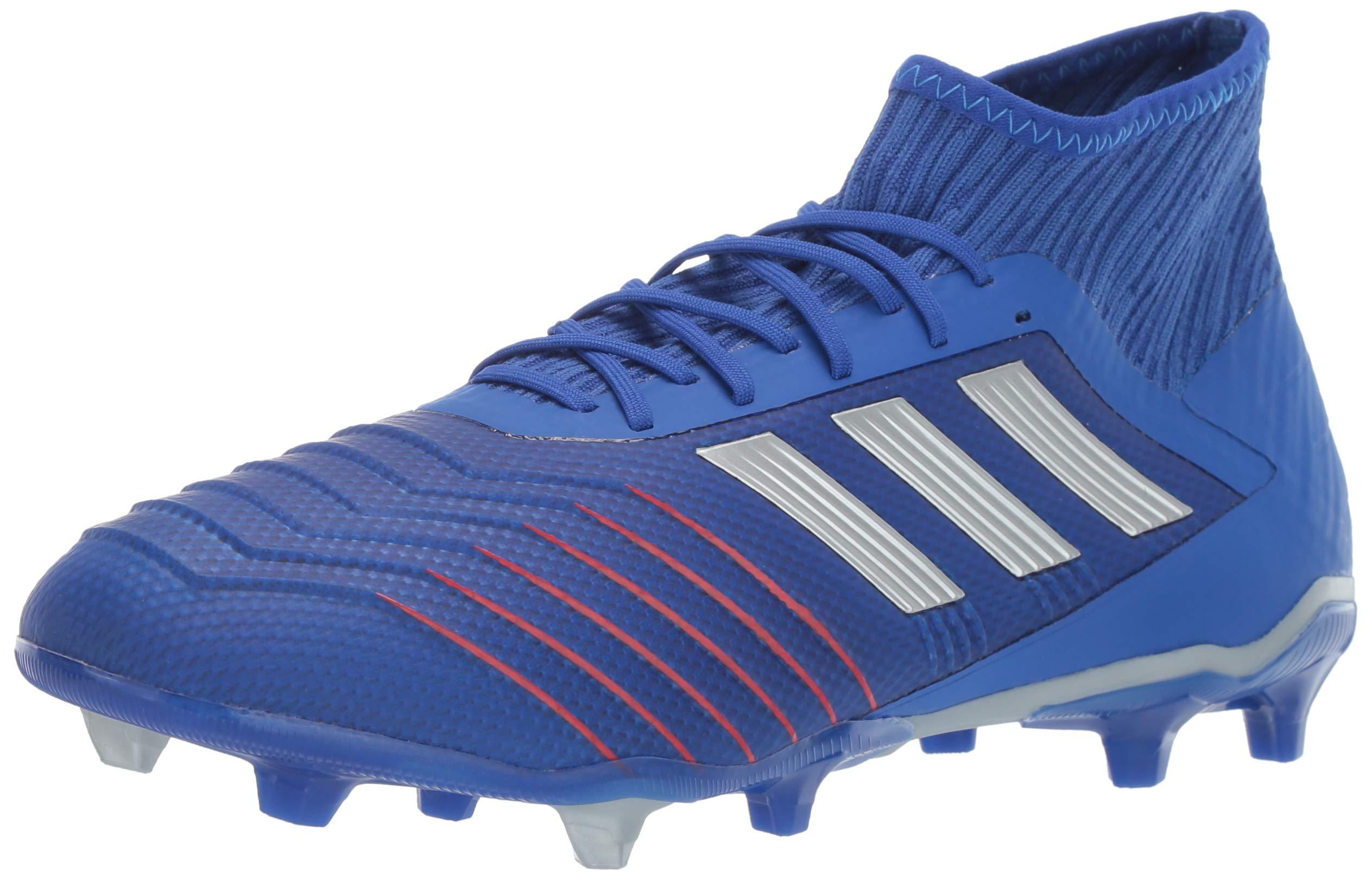 adidas Men's Predator 19.2 Firm Ground, Bold Silver Metallic/Football Blue, 6.5 M US
