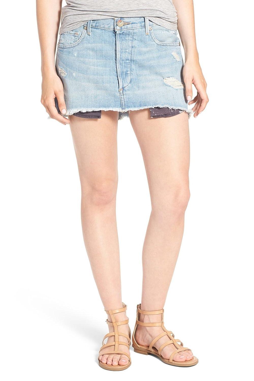 True Religion Women's Mullet Hem Denim Mini Skirt