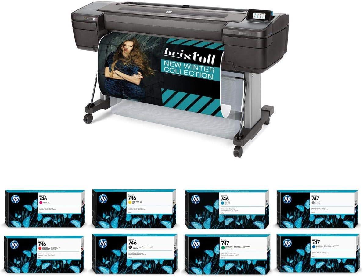 "HP DesignJet Z9+ Large Format Postscript Photo Printer - 44"", with Spectrophotometer (W3Z71A) with Ink Bundle"