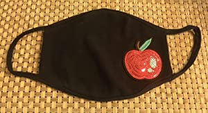Red Apple Teacher Educator Protection Mask Design Face Mask Cotton Blend Face Covers Dust Covering for Kids and Adults, Washable and Reusable Unisex Double Layer