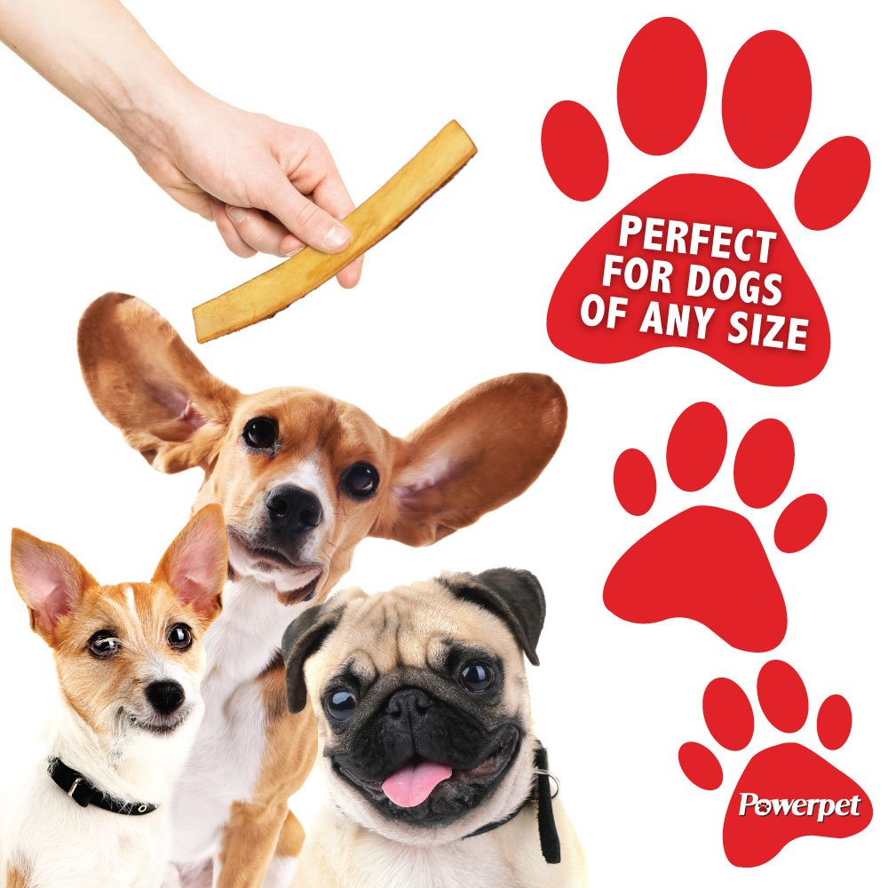 Powerpet: Smoked Beef Jerky Skins - Natural Dog Chew - 8 OZ Pack - Helps Improve Dental Hygiene - 100% Natural & Highly Digestible - Protein with Low Fat - Beef Jerky Dog Treat - Beef Skin and Meat by Powerpet (Image #6)