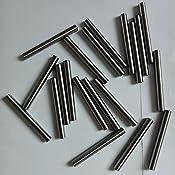 20 St/ück Zylinderstifte 5x20 DIN 7 Stahl blank Zylinderstift Pa/ßstifte Toleranz M6
