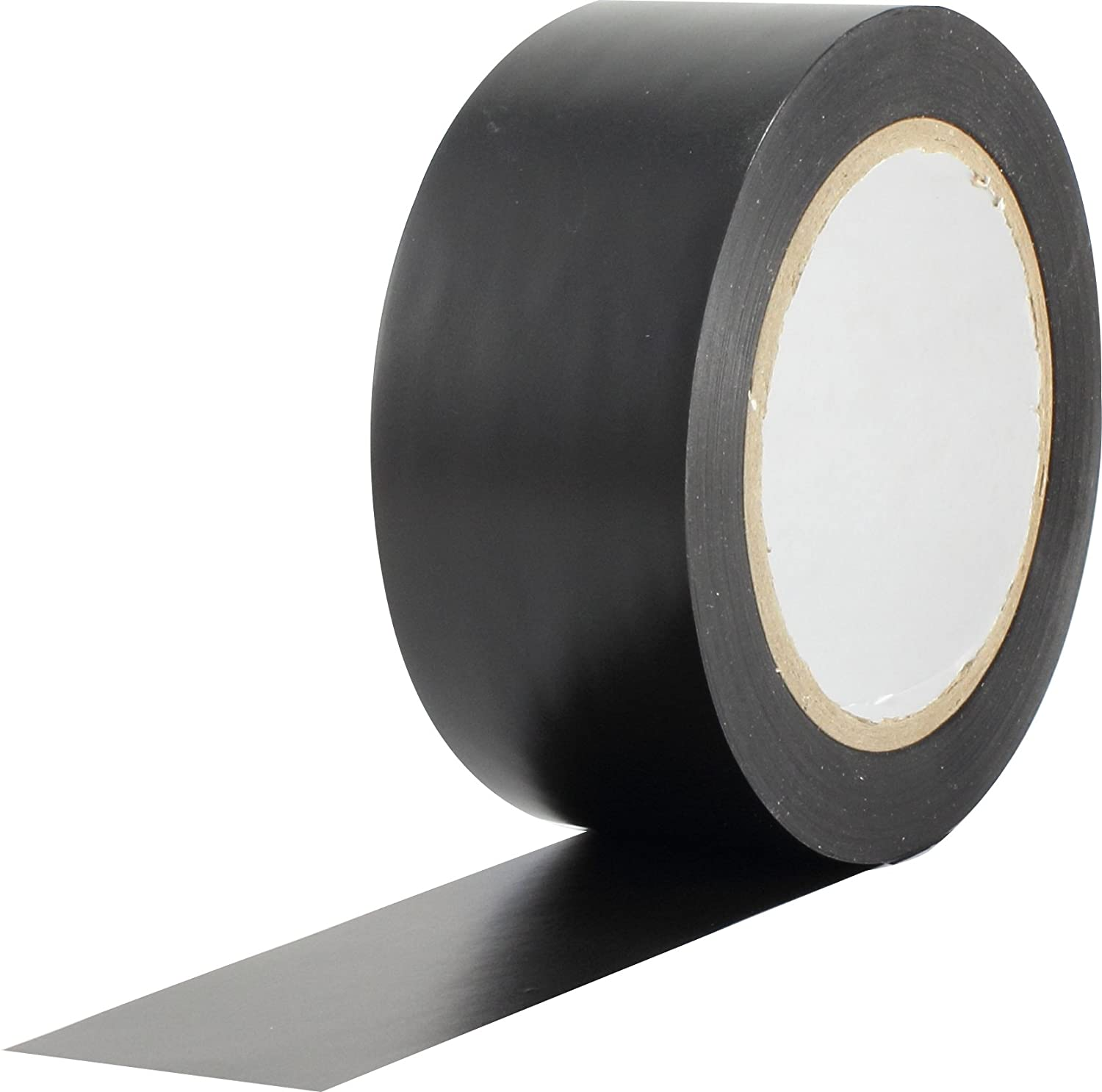 ProTapes Pro 50 Premium Vinyl Safety Marking and Dance Floor Splicing Tape, 6 Mils Thick, 36 Yds Length X 2' Width, Black (Pack of 1) 36 Yds Length X 2 Width ProTapes & Specialties 50-6-2x36-B