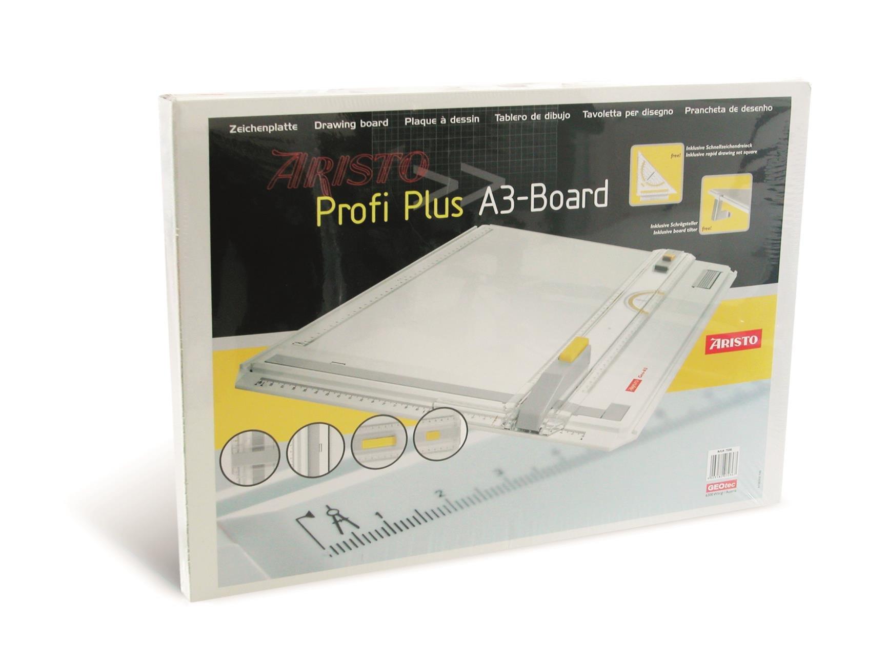 Aristo Profi Plus Drawing Board A3 Plastic White
