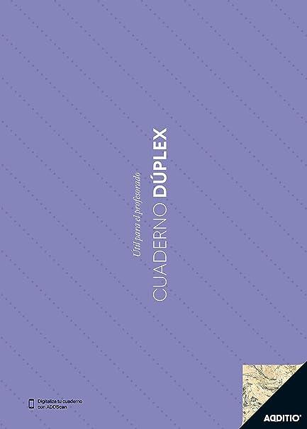 Additio P142 - Cuaderno Dúplex, color azul, surtido: colores aleatorios