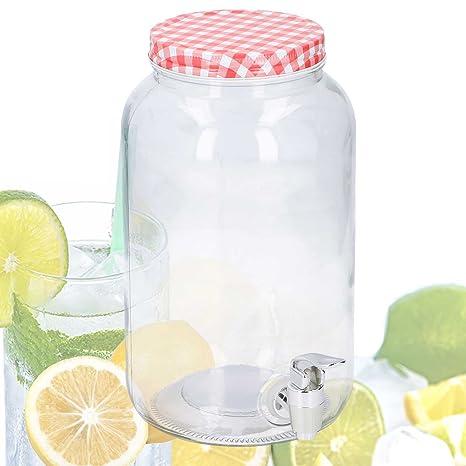 Jugo dispensador 3 L de agua Cristal con grifo (dispensador de bebidas dispensador