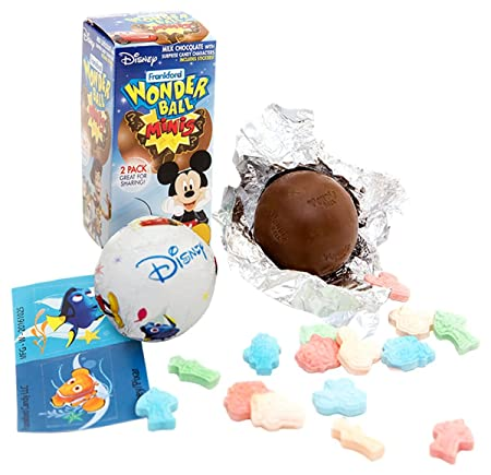 Amazon Com Disney Chocolate Wonderball Surprise Egg With Hard