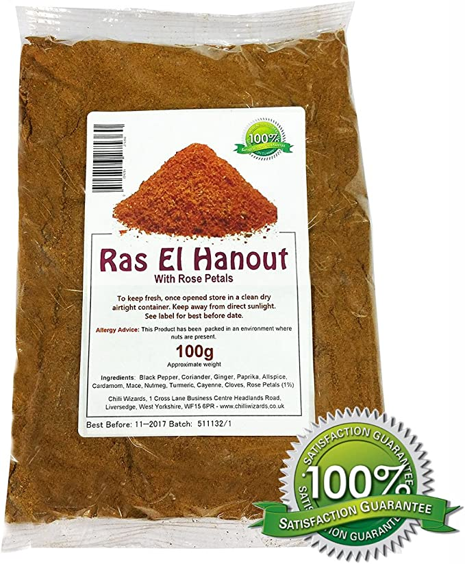 Ras El Hanout With Red Rose Petals 100g