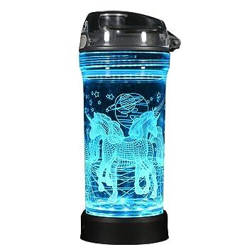 Tejo Stuff – niños botella de agua – luz LED hasta diseño – 14oz