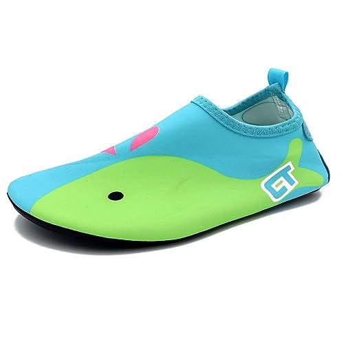 Easondea Toddler Scarpe da acqua Scarpe da nuoto per Bambini Calzini da  bagno a piedi nudi 90cb555f255