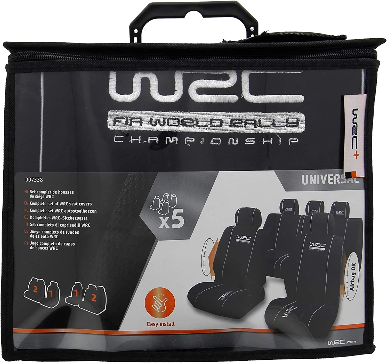 Wrc 007338 4 Tlg Set Sitzbezug Universal Airbag Kompatibel Schwarz Auto