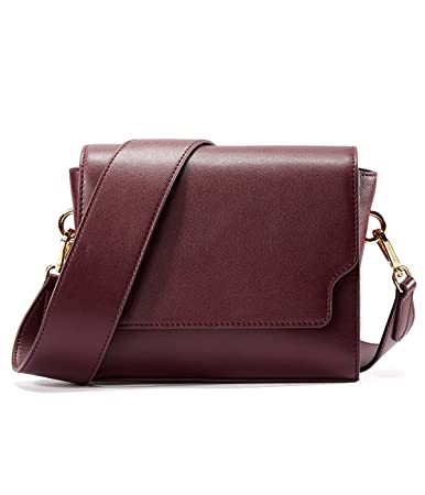 Buy EMINI House Women Siple Stylish Saddle Bag Wide Strap Crossbody Bag-Wine  Red Online at Low Prices in India - Amazon.in ebf125ceb