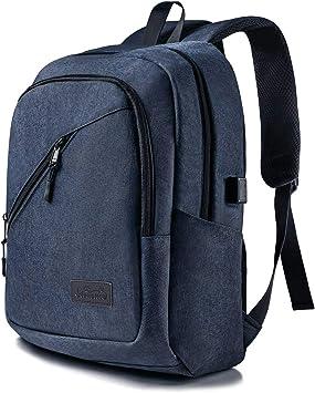 Viedouce Mochila para Portátiles Escolares,Mochilas Antirrobo Impermeable,Daypacks con Puerto de Carga USB & Puerto de Auriculares,Negocio Mochila Portátil para Hombre Mujer (Azul-17.3 Pulgadas): Amazon.es: Electrónica