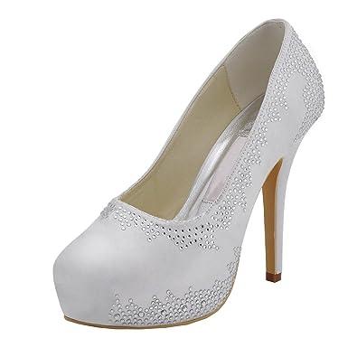 Kevin Fashion - Zapatos de boda a la moda Mujer , color Amarillo, talla 41 UE